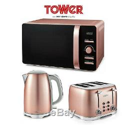 Tower Blush Pink Glitz 20L Microwave 1.7 Litre 3kW Jug Kettle 4 Slice Toaster
