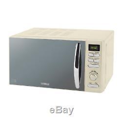 Tower Cream 800w 20 Litre Digital Microwave Jug Kettle & 2 Slice Toaster Set