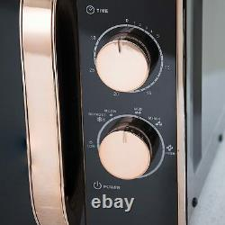 Tower Manual Solo Microwave 800W 20L Black & Rose Gold T24020 -3 Yrs Guarantee