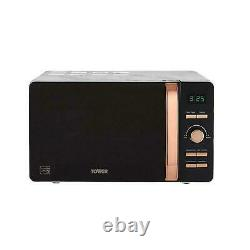 Tower Marble & Rose Gold 20L 800W Digital Microwave T24021WMRG 3 Yrs Guarantee