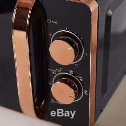 Tower ROSE GOLD BLACK Manual Microwave, Linear 1.8L Kettle & 4 Slice Toaster