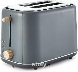 Tower Scandi Mega Set Microwave Kettle Toaster Storage Set Bin Mug Tree Grey