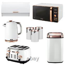 Tower Set of 8 Kettle 4 Slice Toaster Microwave Sensor Bin Bread Bin Canisters