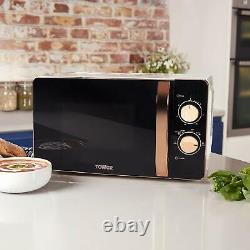 Tower T24020W 20L Manual Solo Microwave 800w White And Rose Gold Brand New
