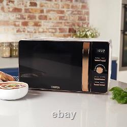 Tower T24021W 20L Digital Microwave with 6 Power Levels Rose Gold Brand New