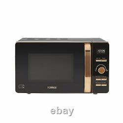 Tower T24021 20L Digital Solo Microwave 800w In Black And Rose Gold Brand New