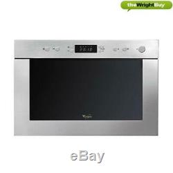 Whirlpool AMW498IX 22L Compact Built-in Microwave & Grill in Stainless Steel