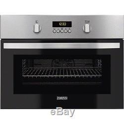 Zanussi ZKC44500XA Built-in S/Steel 43L Compact Oven & Combi 1000W Microwave
