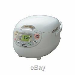 Zojirushi NS-ZCC10 Neuro Fuzzy Rice Cooker & Warmer (1.0 Liter) Bundle with 15-I